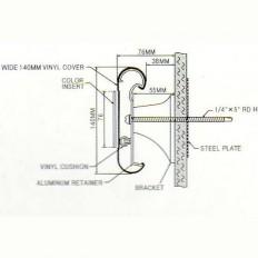 범퍼핸드레일 MRAE-140 C